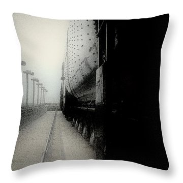 Throw Pillow featuring the drawing I Hear That Lonesome Whistle Blow by RC deWinter