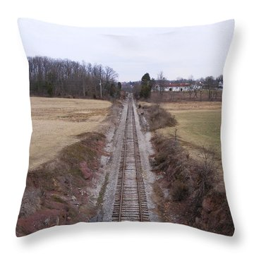 I Hear That Train A Comin' Throw Pillow