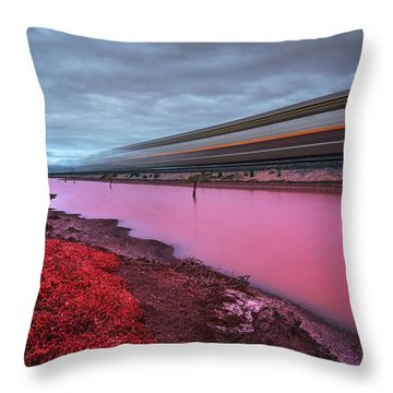 I Hear The Ghost Train Rumbling Along The Tracks Throw Pillow