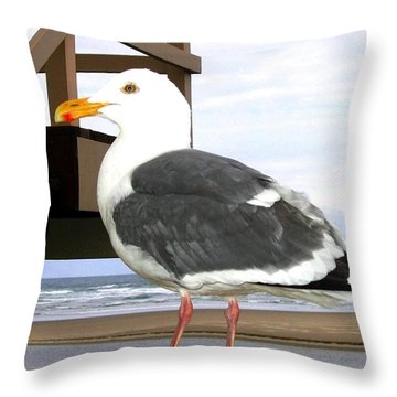 I Hope Lunch Is Ready Throw Pillow