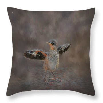 I Know I Can Fly Throw Pillow