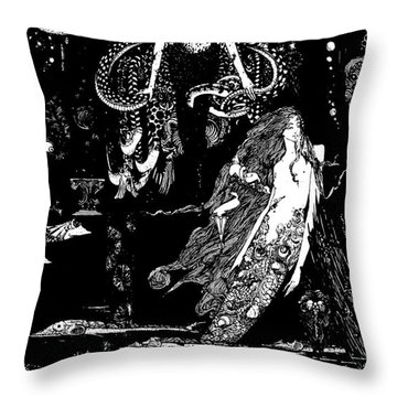 I Know What You Want Said The Sea Witch, Illustration For The Little Mermaid  Throw Pillow