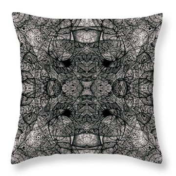 Throw Pillow featuring the drawing I Left All My Chocolate In Pittsburgh  Series by Jack Dillhunt