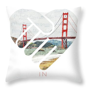 I Left My Heart In San Fransisco Throw Pillow
