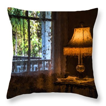 I Left The Light On For You Throw Pillow