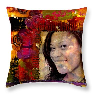 I Like Colors   What About You Throw Pillow by Angela L Walker