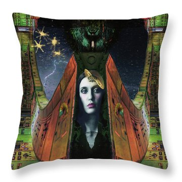 I Live Beyond Here Throw Pillow