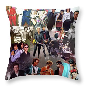 I Love 80s Throw Pillow