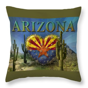 I Love Arizona Landscape Throw Pillow