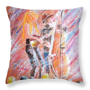I Love Bluegrass Throw Pillow by Bill Holkham