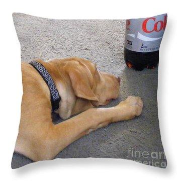 I Love Diet Coke Throw Pillow