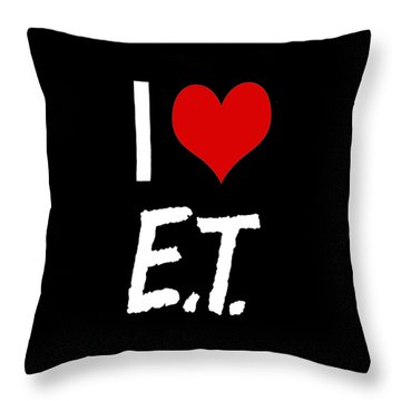 Throw Pillow featuring the digital art I Love E.t. by Gina Dsgn