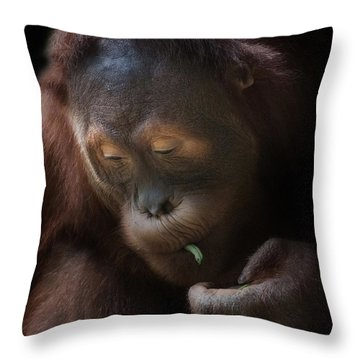 I Love Green Beans Throw Pillow
