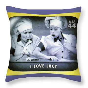 I Love Lucy Throw Pillow by Lanjee Chee