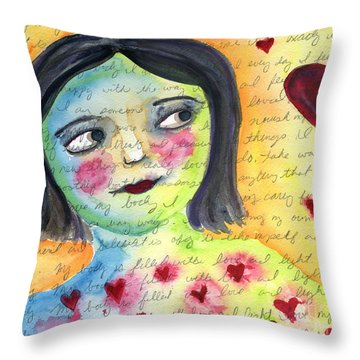 I Love My Body Throw Pillow