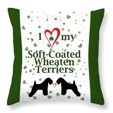 I Love My Soft Coated Wheaten Terriers Throw Pillow