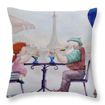 I Love Paris Grandpa Throw Pillow