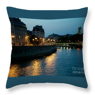 Throw Pillow featuring the photograph I Love Paris by Sandy Molinaro