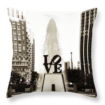I Love Philadelphia Throw Pillow by Bill Cannon