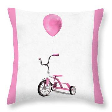 Throw Pillow featuring the digital art I Love Pink by Edward Fielding