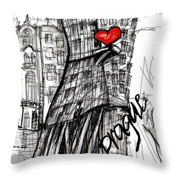 I Love Prague Throw Pillow by Sladjana Lazarevic