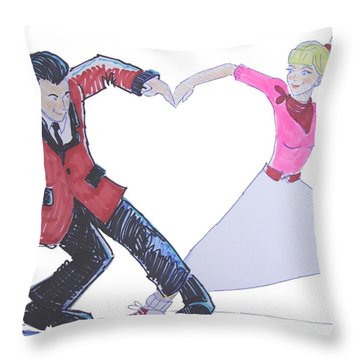 I Love Rock 'n' Roll Throw Pillow