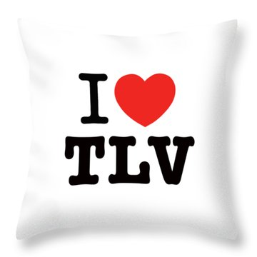 Throw Pillow featuring the photograph i love TLV by Ron Shoshani