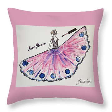I Love To Dance Throw Pillow by Jasna Gopic