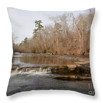 I Love To Go A Wanderin' Yellow River Park -georgia Throw Pillow