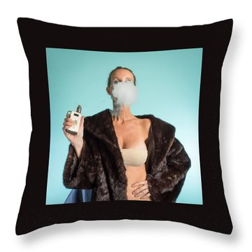 I Love To Vape Throw Pillow by Lisa Piper
