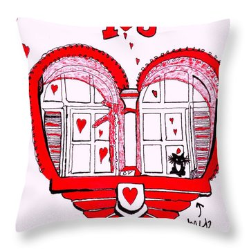 I Love You Throw Pillow by Connie Valasco