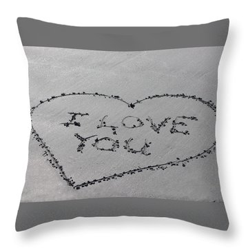 I Love You Throw Pillow by Jewels Blake Hamrick