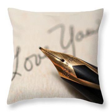 I Love You Throw Pillow by June Marie Sobrito