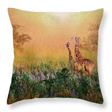 I Love You Mom Throw Pillow by Diane Schuster