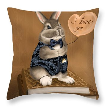 Throw Pillow featuring the painting I Love You by Veronica Minozzi