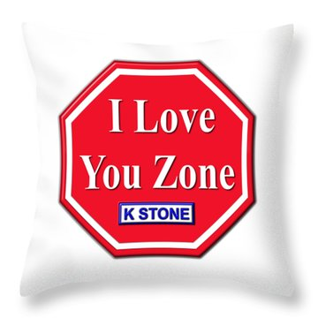 I Love You Zone Throw Pillow
