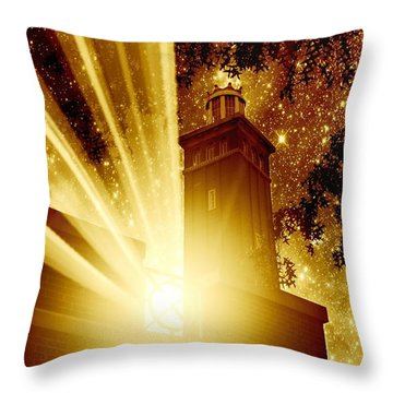 I Met Her Under The Stars Throw Pillow