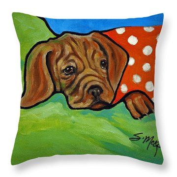 Throw Pillow featuring the painting I Need A Hug by Suzanne McKee