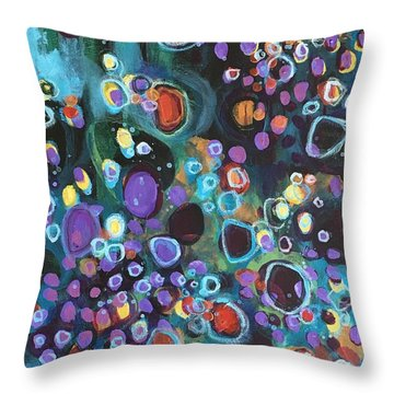 Throw Pillow featuring the painting I Need An Answer Please by Laurie Maves ART