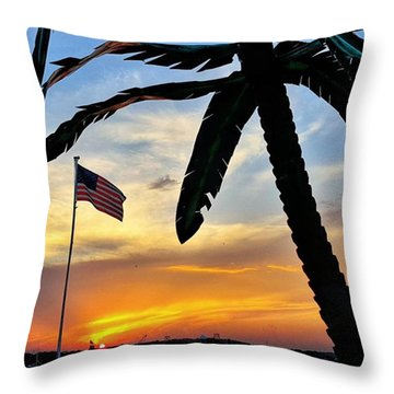 I Never Tire Of Sunsets Throw Pillow