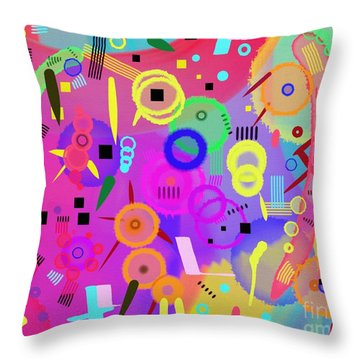 Throw Pillow featuring the digital art I Once Was Happy by Silvia Ganora