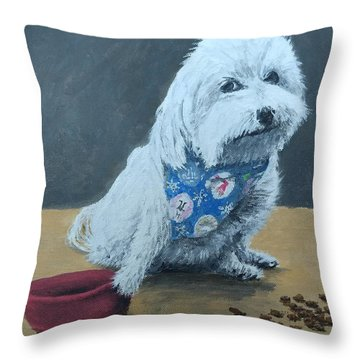Throw Pillow featuring the painting No Bowls by Kevin Daly