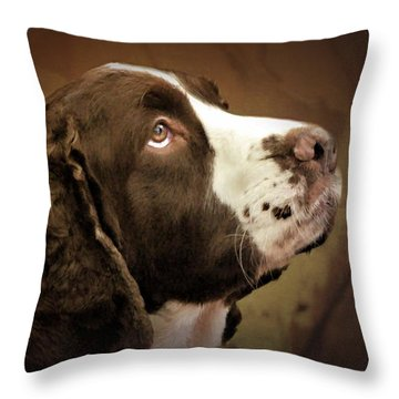 I Only Have Eyes For You Throw Pillow by Wallaroo Images