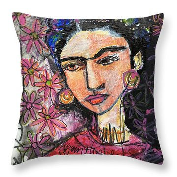 I Paint Flowers So They Will Not Die Throw Pillow by Laurie Maves ART