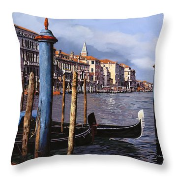 I Pali Blu Throw Pillow by Guido Borelli