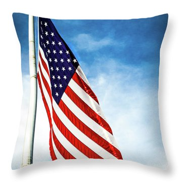 I Pledge Allegiance Throw Pillow by Shelby  Young