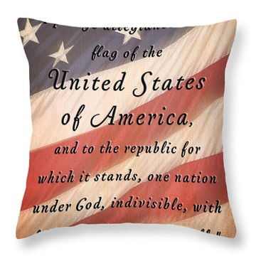 I Pledge Throw Pillow