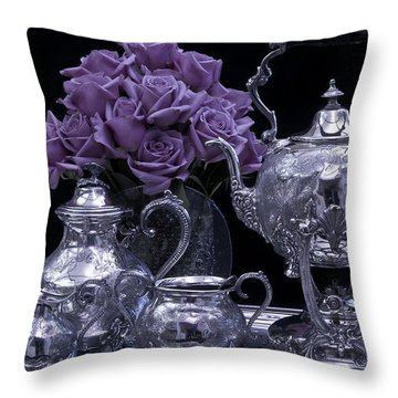 I Polished My Silver For You Throw Pillow by Sandra Foster