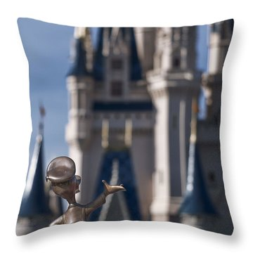 I Present You Cinderella's Castle Throw Pillow