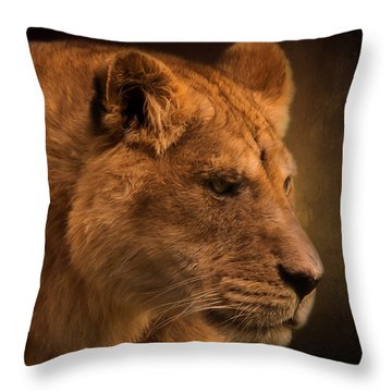 I Promise - Lion Art Throw Pillow